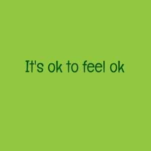 It'k ok to feel ok about death and grief